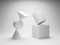 Balancing geometric shapes Royalty Free Stock Photo