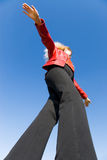 Balancing girl Stock Photography