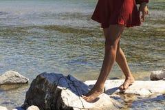 Balancing girl Royalty Free Stock Photo