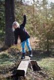 Balancing girl Stock Images