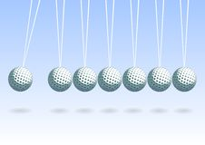 Balancing golf ball Royalty Free Stock Photo