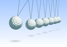 Balancing golf ball Royalty Free Stock Image
