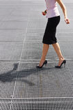 Balancing on high heels Royalty Free Stock Images