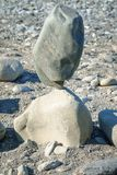 Balancing large stones in equilibrium royalty free stock photo