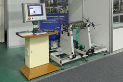 Balancing machine. NIZHNY TAGIL, RUSSIA - SEP 25, 2013: The international exhibition of armament, military equipment and ammunition RUSSIA ARMS EXPO (RAE-2013) Royalty Free Stock Photography