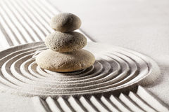 Balancing meditation with zen stones Stock Photos