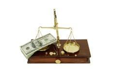 Balancing money Stock Image
