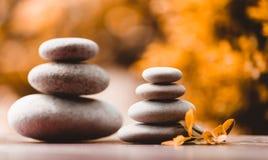 Balancing pebble zen stones outdoor Royalty Free Stock Image
