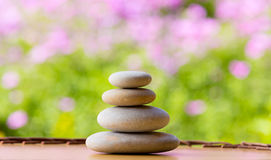 Balancing pebble zen stones outdoor Stock Images
