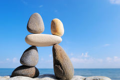 Balancing pebbles Royalty Free Stock Image