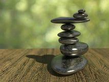 Balancing pebbles. Very high resolution 3d rendering of balancing pebbles Royalty Free Stock Images