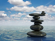 Balancing pebbles Royalty Free Stock Photo