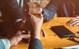 Balancing the property sector in business Stock Images