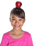 Balancing Red Apple III Royalty Free Stock Photography