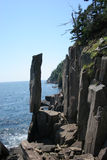 Balancing Rock. On Long Island, Nova Scotia Stock Photo