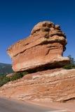 Balancing Rock. At the Garden of the Gods in Colorado Springs, Colorado stock photography