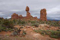 Balancing Rock. Arches National Park, Utah Royalty Free Stock Photography