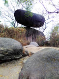 Balancing rock of Jabalpur, India. World famous rock balance of jabalpur india royalty free stock photography