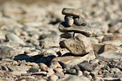 Balancing rocks Royalty Free Stock Photo