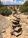 Balancing rocks. Rocks carefully balanced stock photo
