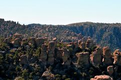 Balancing Rocks and Hoodoos of the Chiricahua mountains of the Chiricahua Apaches. Chiricahua are a band of Apache Native Americans, based in the Southern Plains stock photography