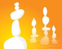 Balancing Rocks of Meditation. An illustration of a balanced rock formation Stock Image