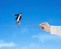 Balancing on rope Stock Image