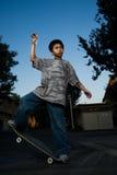 Balancing on Skateboard Stock Images