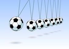 Balancing soccer ball Stock Image