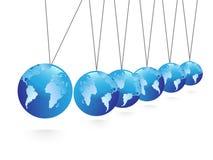 Balancing spheres Royalty Free Stock Photos
