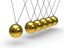 Balancing spheres on white background Stock Photos