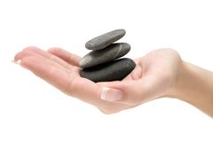 Balancing Stacked Stones Royalty Free Stock Images