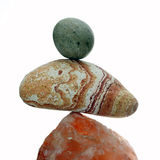 Balancing the stone Stock Photo