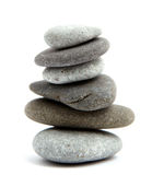 Balancing stones. On a white Stock Image