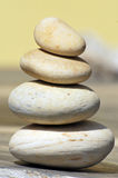 Balancing stones. In sunny day Royalty Free Stock Photography