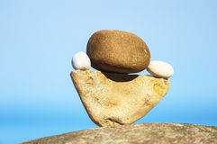 Balancing of stones Stock Images