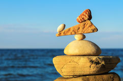 Balancing of stones Royalty Free Stock Photography