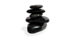 Balancing stones isolated over white. Royalty Free Stock Photography