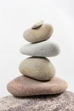 Balancing stones isolated on white background Royalty Free Stock Photography