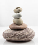 Balancing stones isolated on white background Royalty Free Stock Photo