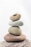 Balancing stones isolated on white background Royalty Free Stock Image