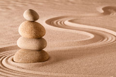 Balancing stones zen garden. Zen meditation garden stack of stones, relaxation and meditation through simplicity harmony and rock balance lead to health and Royalty Free Stock Photo