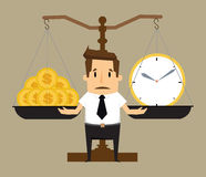 Balancing Time and Money. Vector Royalty Free Stock Photo