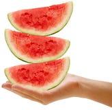 Balancing watermelons Stock Image