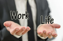 Balancing work and private life Royalty Free Stock Image