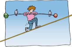 Balancing yes no Royalty Free Stock Image