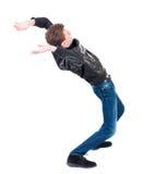 Balancing young man or dodge falling man. Stock Photography