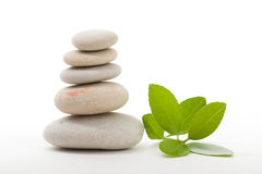 Balancing zen stones isolated Royalty Free Stock Photos