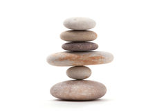 Balancing zen stones isolated Royalty Free Stock Image