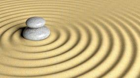 Balancing Zen stones stack Stock Photo